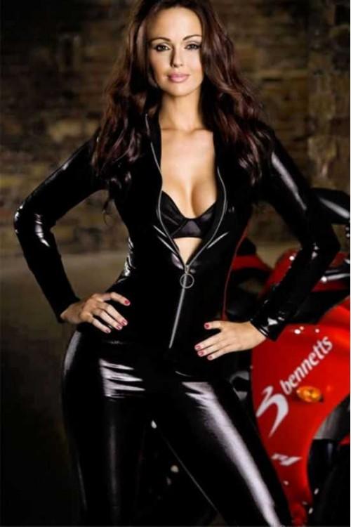 Merry See Deri Motorcu Kız kostümü