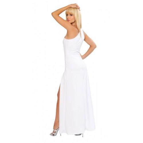 Merry See Fantazi Beyaz Fermuarlı Gece Elbisesi