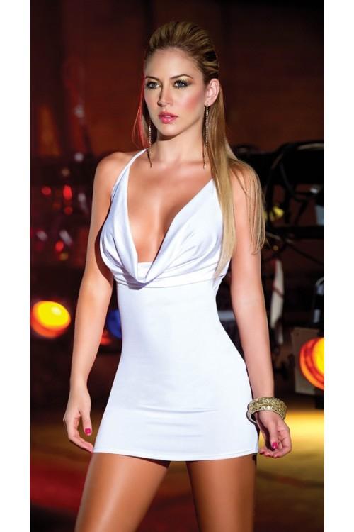 Merry See Sırtı Metal Aksesuarlı Beyaz Mini Ebise