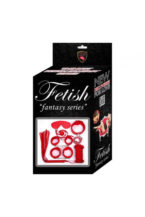 Fetish Fantezi Seri Kırmızı Set