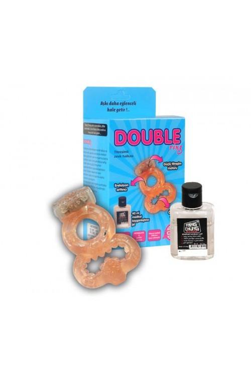 Double Ring Titreşimli Zevk Halkası
